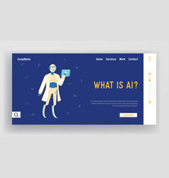chatbot assistance answering questions online vector image