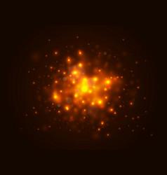 christmas lights concept gold bokeh lights vector image
