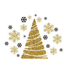 christmas tree holiday background vector image
