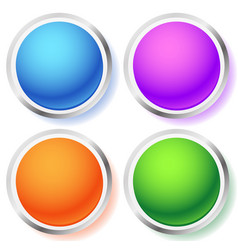 Circle orb icons vector