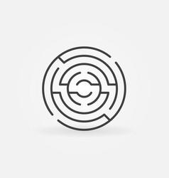 Circular maze icon vector