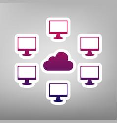 Computers nerk sign purple gradient icon vector