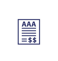 Credit rating icon on white finance vector