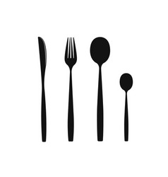 Cutlery on a transparent background fork knife vector