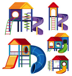 Different designs of playhouses vector