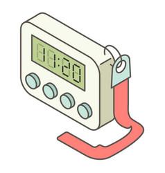 digital clock icon isometric style vector image