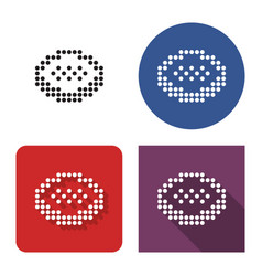 Dotted icon cookie in four variants with short vector