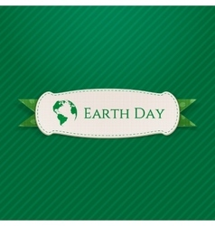 Earth Day realistic paper Banner Template vector