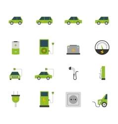 Electric Car Icon Set vector image