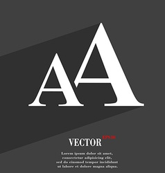 Enlarge font AA icon symbol Flat modern web design vector