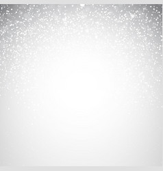 Falling shining snowflakes and snow on winter vector