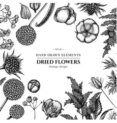 floral design with black and white astilbe vector image