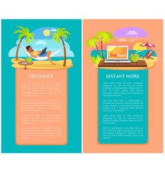 Freelance and distant work as new way to get money vector