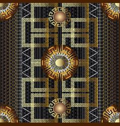 geometric greek 3d seamless pattern vector image