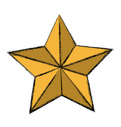 Golden star decoration ornament icon vector