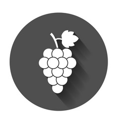 grape fruit with leaf icon with long shadow vector image
