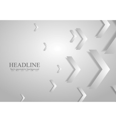 Grey tech geometric corporate background with vector