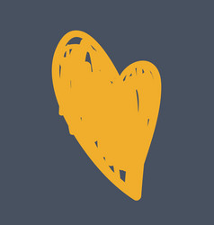 hand drawn heart icon on white vector image