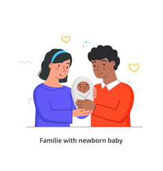 happy spouses with baby vector image