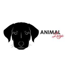 head dog puppy icon logo symbol vector image