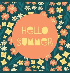 hello summer feminine banner vector image