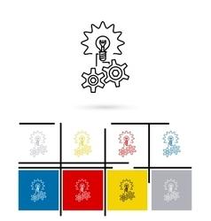 Idea line icon vector