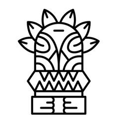 island wood idol icon outline style vector image