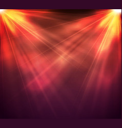 Light on stage with rays and light vector
