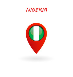 location icon for nigeria flag eps file vector image