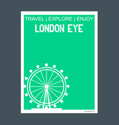 london eye united kingdom monument landmark vector image
