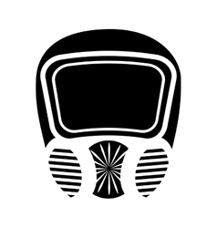 Mask safety isolated icon vector