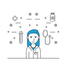 medical research woman vector image