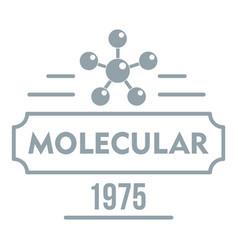 Molecular logo simple gray style vector