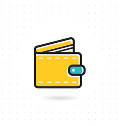 open wallet flat icon vector image