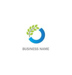 organic leaf sign logo vector image