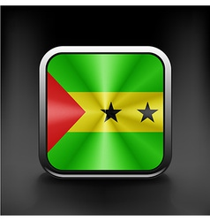 original and simple Sao Tome e Principe flag vector image