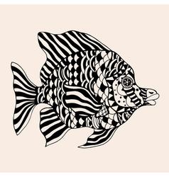 Ornamental graphic fish vector