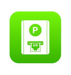 Parking fee icon digital green vector