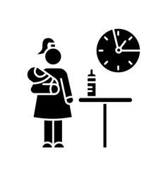 Part time babysitter black glyph icon babysitting vector