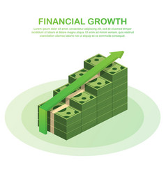 profit or financial growth concept a stack of vector image