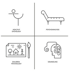 Psychology Logo set vector image