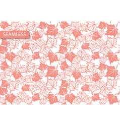 retro maple leaves pattern great design vector image