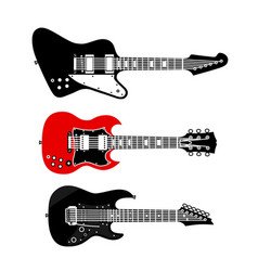 rock music electric guitars set vector image