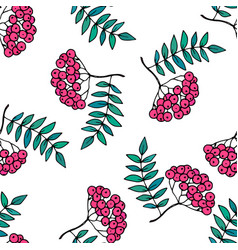 Rowan seamless pattern vector