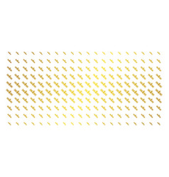 Satellite golden halftone array vector