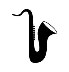 Saxophone musical instrument vector