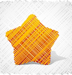 Scribbled orange five-star vector