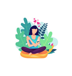 self care concept vector image