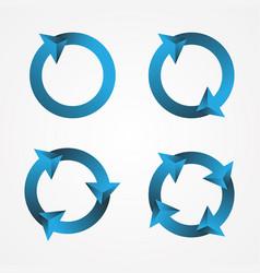 set circle arrow vector image
