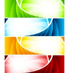 set four colorful banners vector image